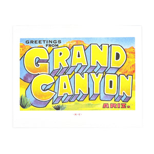 Greetings from: The Grand Canyon, Arizona Risograph Print - Next Chapter Studio