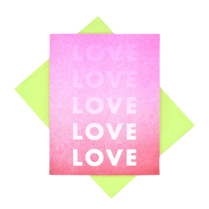 Growing Love - Risograph Valentine's Day Card - Next Chapter Studio
