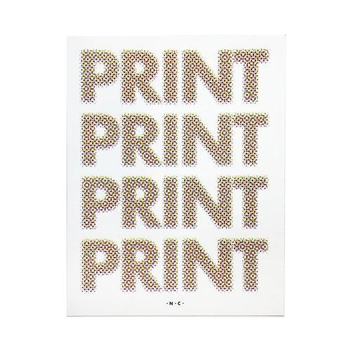 Halftone PRINT Repeat Poster - Store Sign Risograph Print - Next Chapter Studio