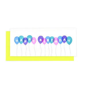 Happy Birthday Balloons Card - Next Chapter Studio