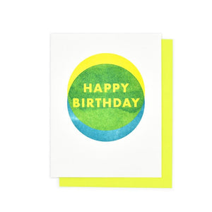 """Happy Birthday"" Shapes - Risograph Card - Next Chapter Studio"