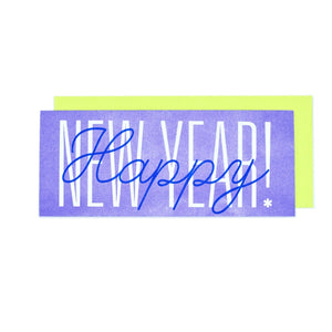 """Happy New Year!"" Risograph Greeting Card - Next Chapter Studio"