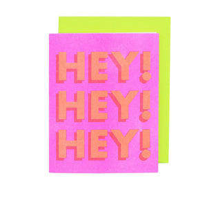 HEY! HEY! HEY! - Risograph Greeting Card - Next Chapter Studio