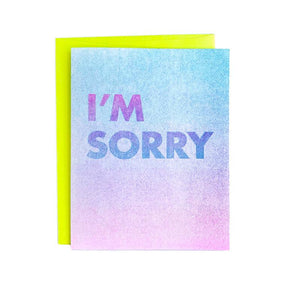 """I'm Sorry"" - Sympathy and Apology Card - Next Chapter Studio"