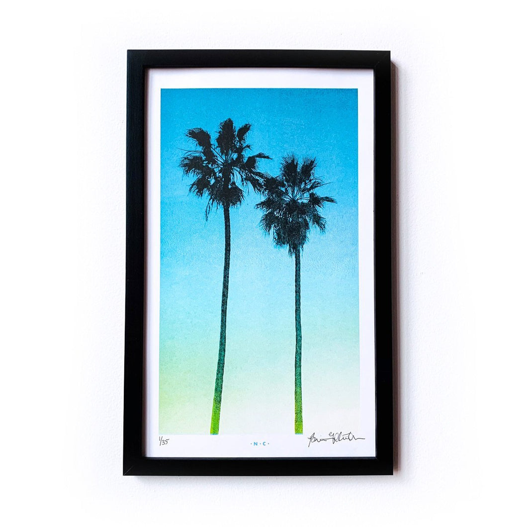LA Palms - Limited Edition Risograph Art Print - Next Chapter Studio