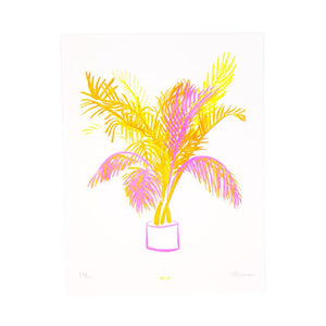 Miami Palm - Risograph Print - Next Chapter Studio