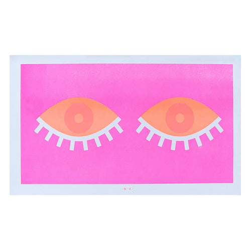 No Sleep Eyes - Art Risograph Print - Next Chapter Studio