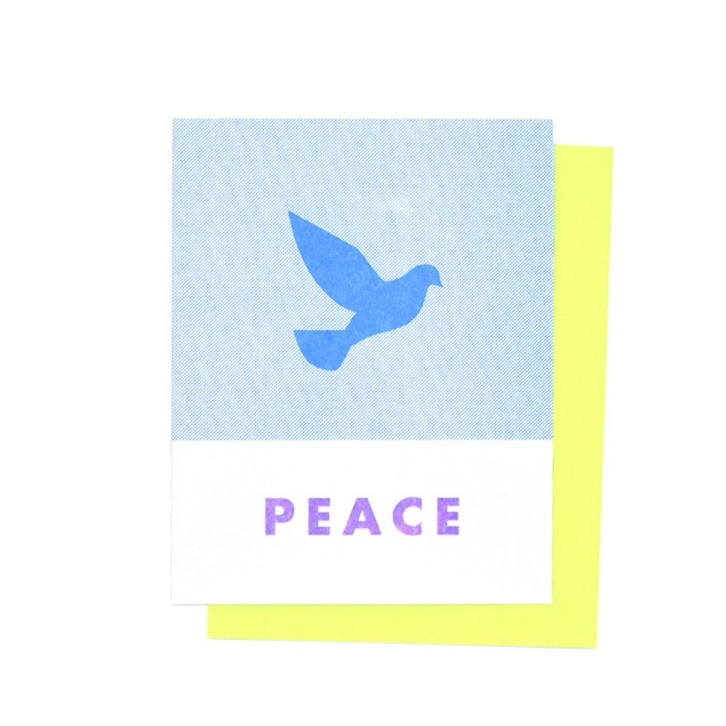 Peace - Holiday Risograph Greeting Card - Next Chapter Studio