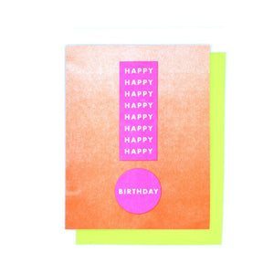 "Punctuation ""Happy Birthday"" Exclamation Risograph Greetings Card - Next Chapter Studio"