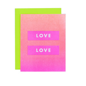 "Punctuation ""Love Is Love"" - Risograph Greeting Card - Next Chapter Studio"
