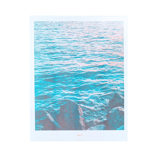 River Sunset - Risograph Art Print - Next Chapter Studio