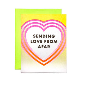 Sending Love From Afar - Risograph Greeting Card - Next Chapter Studio