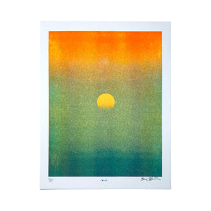 Setting Sun - Risograph Print - Next Chapter Studio