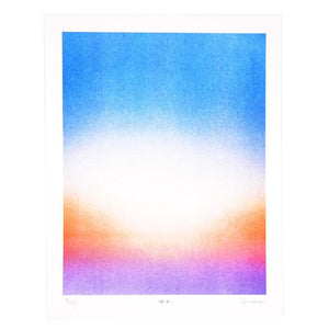 Sunset Near Dusk - Risograph Print - Next Chapter Studio