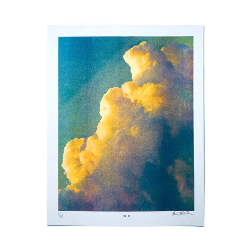 Thunder Clouds - Risograph Print - Next Chapter Studio