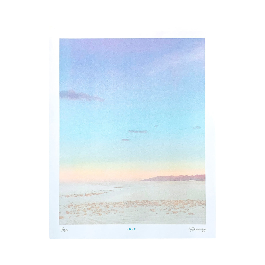 White Sands National Park - Limited Edition Risograph Art Print - Next Chapter Studio