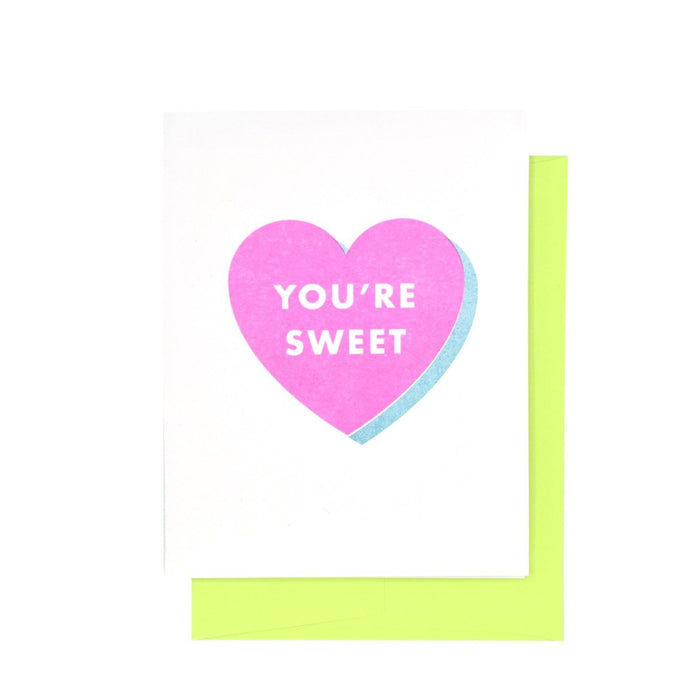 You're Sweet - Risograph Valentine's Day Card - Next Chapter Studio
