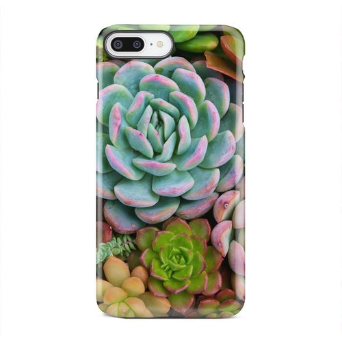 Light Blue and Green Cactus Garden iPhone X Case