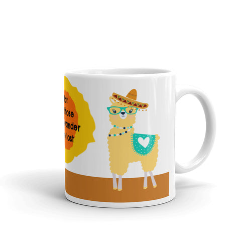 Llama is not lost Coffee mug 11oz