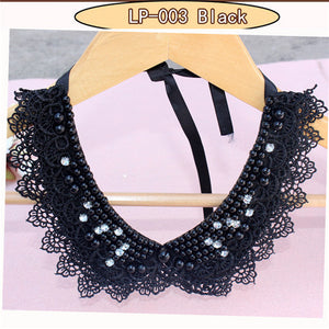 Vintage lace & beaded collar