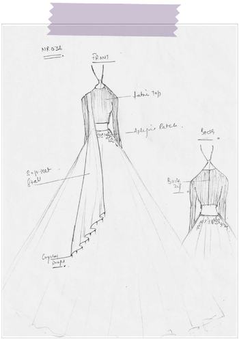 Sketch of Sani dress