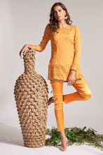 Orange pant with orange kurta top