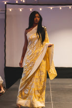 Canary Saree