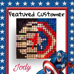captain america pixel art pix Perfect