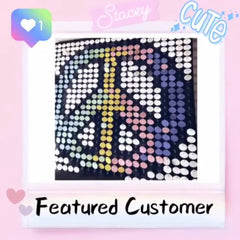 peace sign pixel art pix Perfect