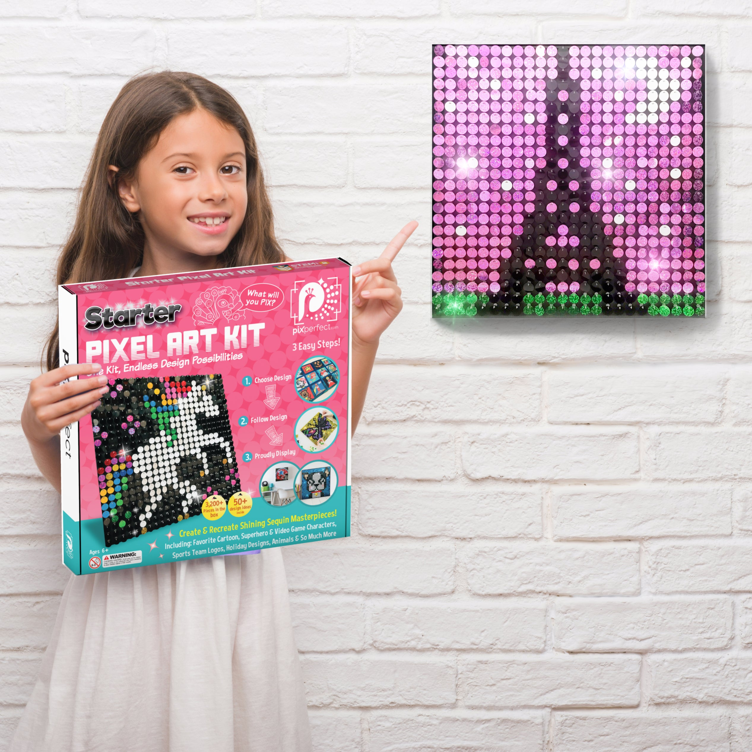 Pix Perfect Starter Pixel Art Kit sequin art craft kit girls teens