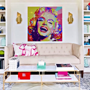Colorful Marilyn Monroe Sequin Pixel Wall Art by Pix Perfect
