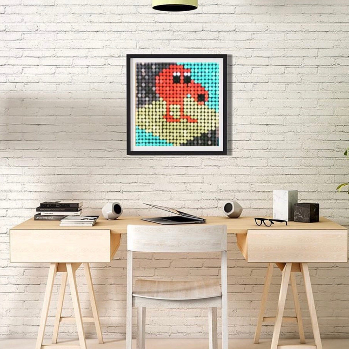 8bit Qbert Pixel Wall Art by Pix Perfect