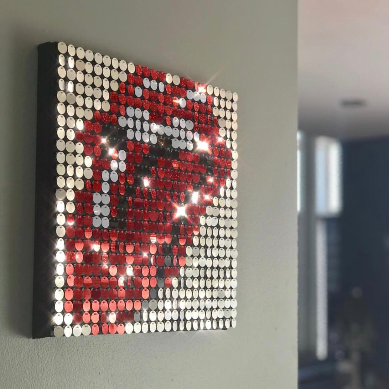 Pix Perfect Shiny Sequin Wall Art