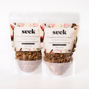 Cinnamon Almond Crunch Cricket Protein Granola (2-Pack),  - Seek Food