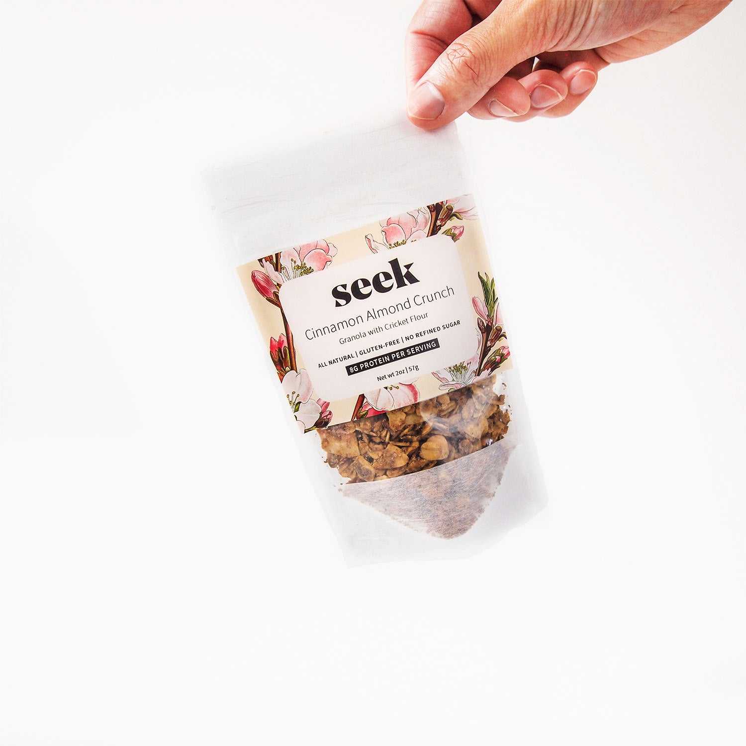 Cinnamon Almond Crunch Cricket Protein Granola Minis (6-Pack),  - Seek Food
