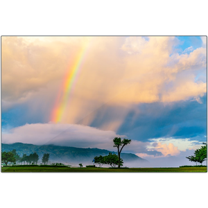 Open image in slideshow, Haleiwa Rainbow | Metal Print