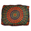 Amazing Technicolored Dream Bed and Meditation Pillow: Rust and Copper