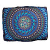 Amazing Technicolored Dream Bed and Meditation Pillow: Deep Blues