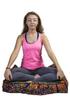 Amazing Technicolored Dream Bed and Meditation Pillow: Radiant Red