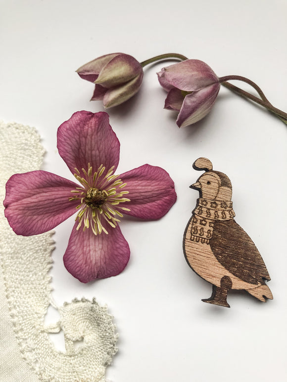Farmyard Friends - Quail Pin