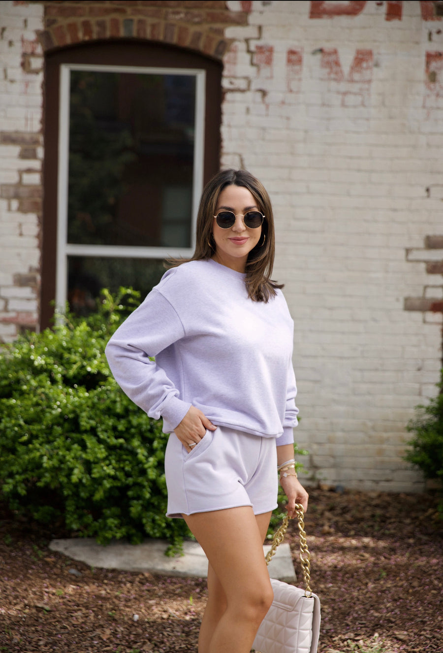 Essential Sweatshirt-Lilac