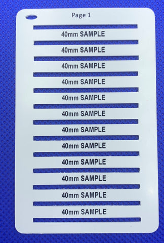 Smartmark Wire ferrule tags 40 x 4 White printed