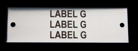 Stainless label 100mm x 30mm x 1.5mm 2 holes TYPE G Bureau