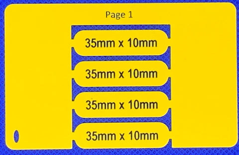 Smartmark cable tag  printed 35 x 10 sleeved printed Yellow