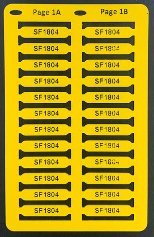 Smartmark Wire ferrule tags 18 x 4 Yellow printed