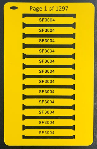 Smartmark Wire ferrule tags 30 x 4 Yellow printed