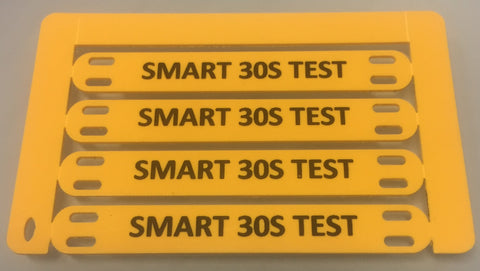 Smartmark cable tag  printed 70 x 10 slotted printed Yellow