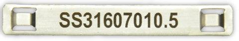 Stainless Steel cable tag printed 70 x 10 x .5mm thick 4.6mm slot