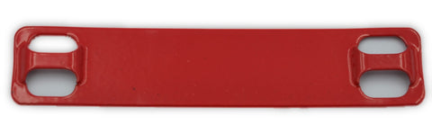 Stainless tag 316 90mm x 19mm RED