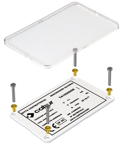 Plate marker 100 x 60mm White